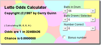 Lotto Odds Calculator